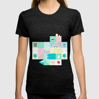 For Japan with love 3 Womens Fitted Tee Tri-Black SMALL