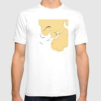 The Yellow Clouds Mens Fitted Tee White SMALL