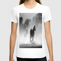 horses T-shirts featuring Horses  by Gracy Dreamscape