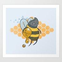 Bee Thief Art Print