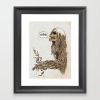 Laughing Skull Framed Art Print