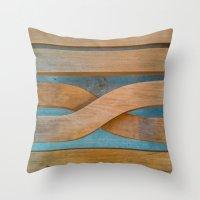 Cross the Wood Throw Pillow