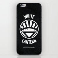 WHITE LANTERN iPhone & iPod Skin