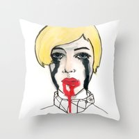 Pain - the look when you are mentally stress out - to death. Throw Pillow