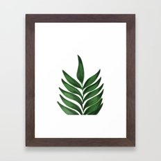 GREEN L E A F Framed Art Print