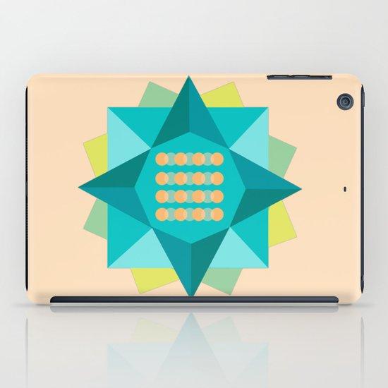 Abstract Lotus Flower - Yoga Print iPad Case