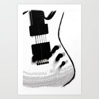 Guitar Iceman Art Print