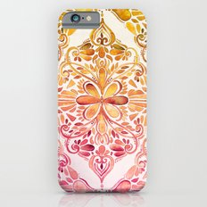 Sunset Art Nouveau Watercolor Doodle iPhone 6 Slim Case