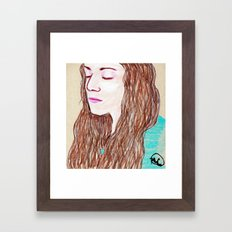 Brittany Portrait Framed Art Print