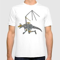 Clockwork Dragon Mens Fitted Tee White SMALL