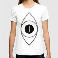 EYE of Line Womens Fitted Tee White SMALL