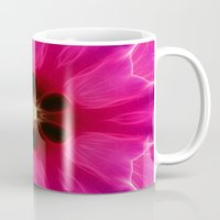 Pink Flower Abstract Mug