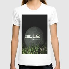 Calle-Swag District. Womens Fitted Tee White SMALL