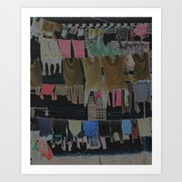 Hanging Laundry pt2  Art Print