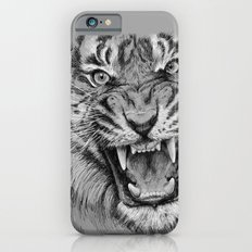 Tiger Drawing Black and White Animals iPhone 6 Slim Case