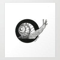 Snail (Circle Series #1) Art Print