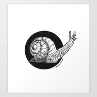 Snail (Circle Series #1) Art Print