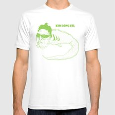 Kim Jong Eel Mens Fitted Tee SMALL White