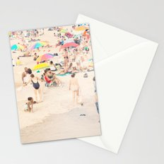 Beach Crowd Stationery Cards