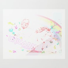 Unicorn: Destroyer of Ponies! Art Print