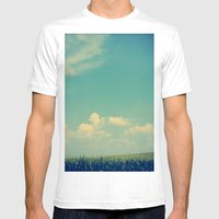 Somewhere Off in the Distance Mens Fitted Tee White SMALL
