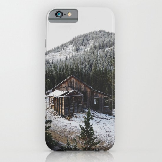 Snowy Cabin iPhone & iPod Case