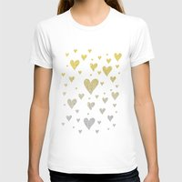 glitter T-shirts featuring Glitter Hearts by Psychae