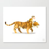 Wild Adventure - Tiger Canvas Print