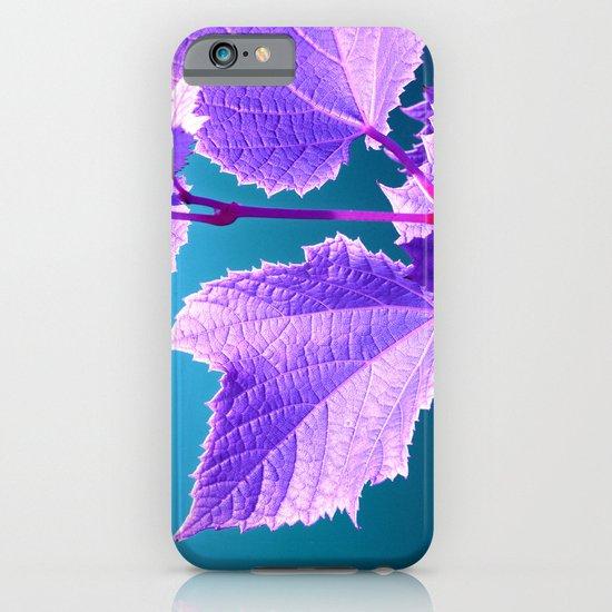purple wine leaf iPhone & iPod Case
