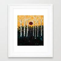 :: Red Moon Love Song :: Framed Art Print