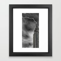 Chrysler Building Lightn… Framed Art Print