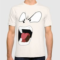 Angry woman Mens Fitted Tee Natural SMALL