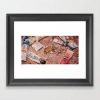Paints Framed Art Print