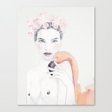 Molly & Flamingo Canvas Print
