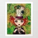 Lady Hatter Art Print