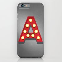 iPhone & iPod Case featuring A - Theatre Marquee Letter by Josh Thomassen