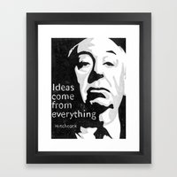 Ideas come from everything Framed Art Print