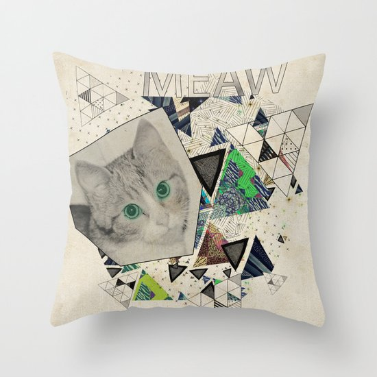 ░ MEAW ░ Throw Pillow