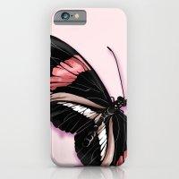 Papillon rouge et noir iPhone 6 Slim Case