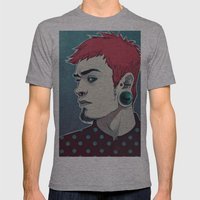Polkathedots Mens Fitted Tee Athletic Grey SMALL