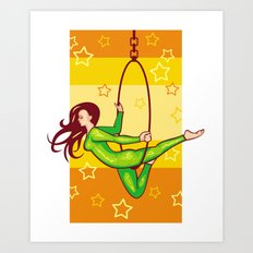 Trapeze-artist Under The… Art Print