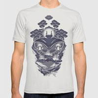 Mantra Ray Mens Fitted Tee Silver SMALL
