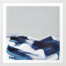 BRUSH STROKES II Art Print