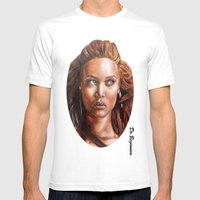 A BLACK BEAUTY     By Da… Mens Fitted Tee White SMALL