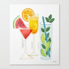 Summer Cocktail Trio Canvas Print