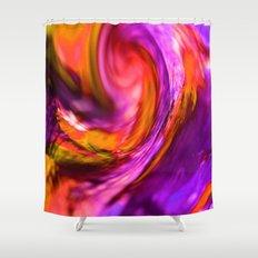 purple and orange spiral Shower Curtain