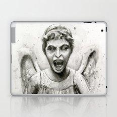 Weeping Angel Watercolor Laptop & iPad Skin