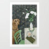 Geometry Labrador Art Print