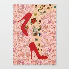 Red Walk Canvas Print