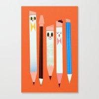 I love pencils Canvas Print